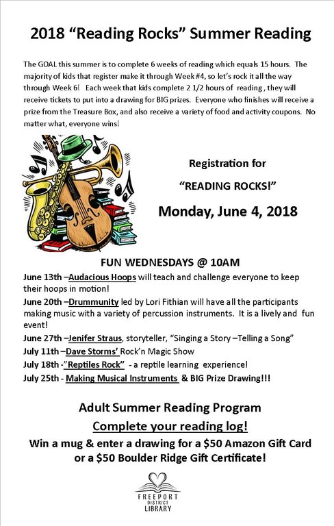 Summer Reading 2018 Flyer