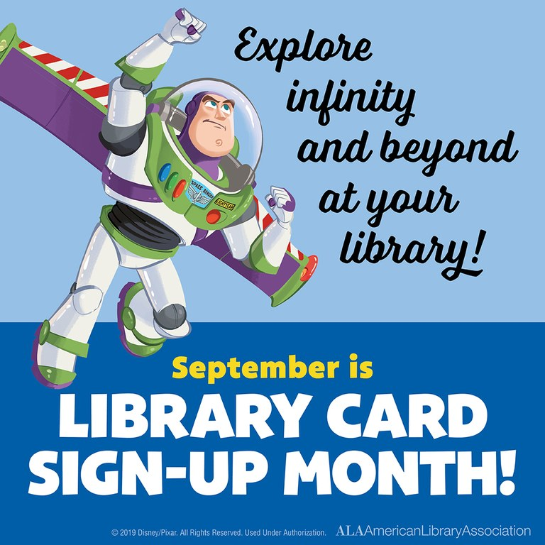 Sept is Library Card Sign Up month